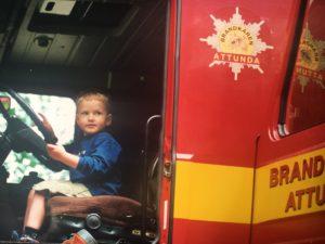 Lycka när en dagispappa är brandman!